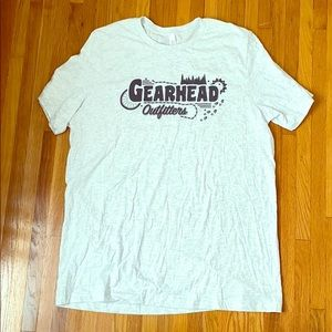 ✅ GEARHEAD OUTFITTERS Spellout Tee T Shirt Size XL